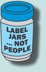 Label Jars Not People. Label on a jar.
