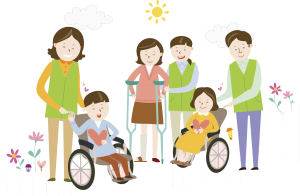 People with and without disabilities happy
