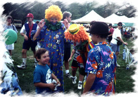 Child with clown